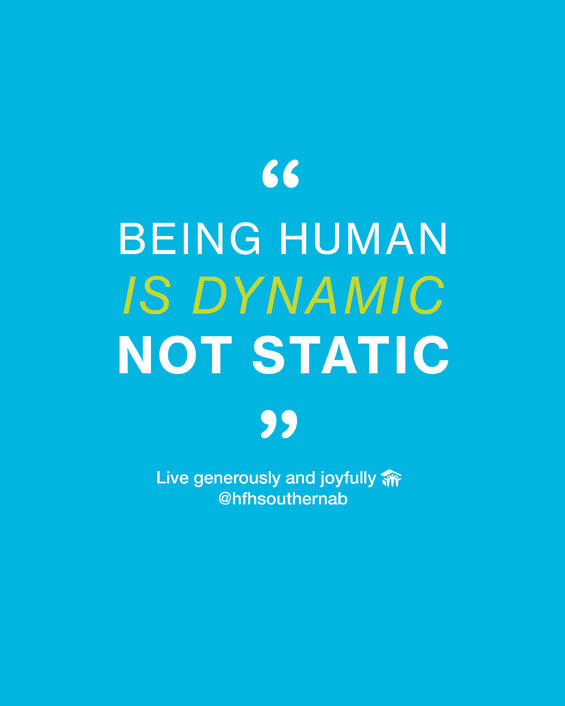 Being human is dynamic not static-1