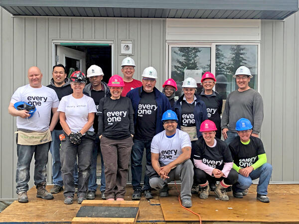 CREB board members take on a Build Day in the Calgary community of Bowness