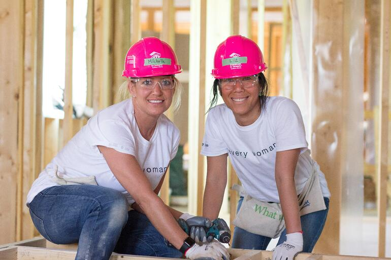 Habitat for Humanity's Women Build in the Calgary community of Bowness