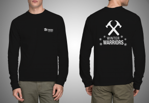 Winter Warriors Long Sleeve Mockup (Black)