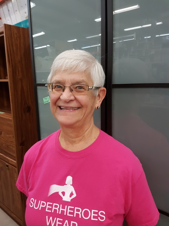 Loretta, volunteer at the Habitat for Humanity ReStore in Medicine Hat