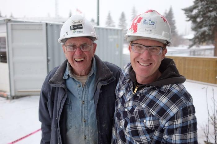 Habitat Volunteer Spotlight - George and Dustin