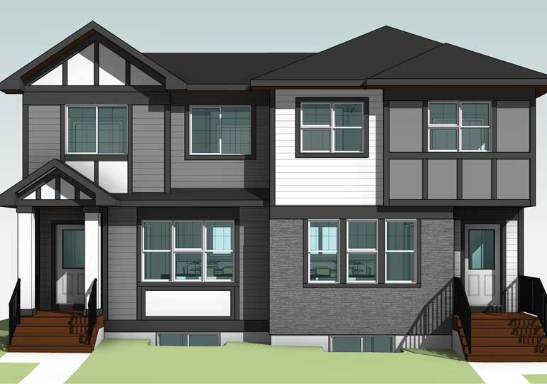 Habitat for Humanity duplex on Southlands Drive in Medicine Hat