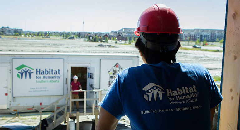 register to volunteer with Habitat for Humanity