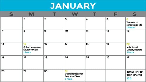 Volunteer Hours Sample Schedule
