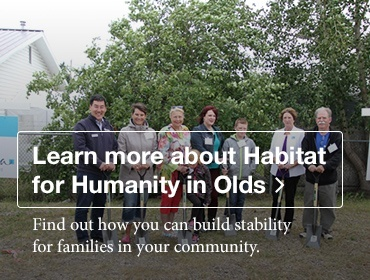 Get involved with Habitat for Humanity in Olds